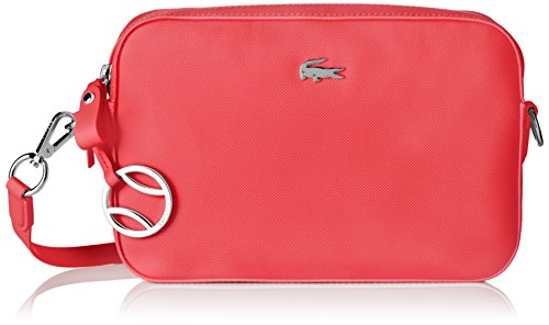 Lacoste NF1875DC, Borsa a Tracolla Donna, 16.5 x 5 x 24.5 cm Teaberry