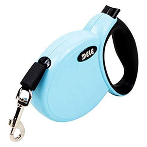 Pet Weste Retractable Tape Pet Dog Leash Leads Automatische Freigabe Stop Glatte Leine Retract Dog Waling Training Leash Strap, bis zu 3M, für Hunde bis 30kg für Hunde und Katzen ( Color : Sky blue )