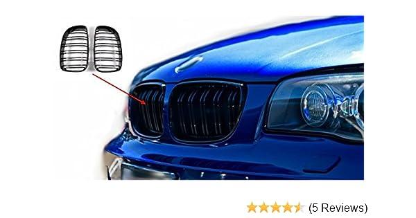 GRILL KÜHLERGRILL SET für BMW E87 LCI 1er ab 2007 SCHWARZ MATT NIEREN-ERSATZ