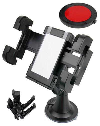 DURAGADGET Premium Autohalterung für Nokia 808 Pureview Smartphone - schwarz
