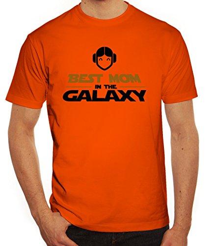 Geschenkidee Herren T-Shirt mit Best Mom In The Galaxy Motiv von ShirtStreet Orange