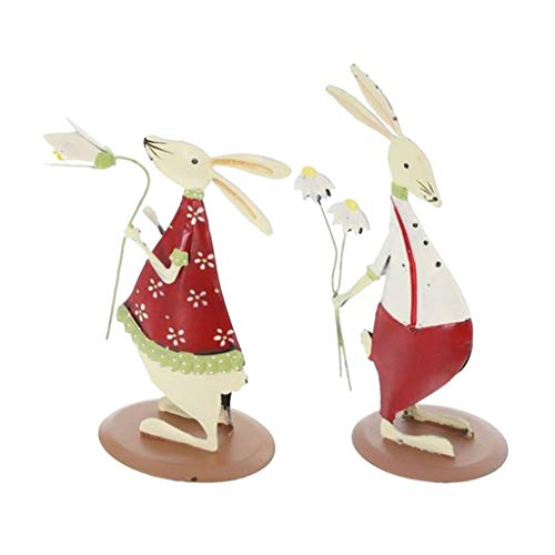 perfeclan Kaninchen Liebpaar Tischdeko