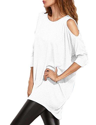Haola Damen-T-Shirt mit Langen Ärmeln und Schultern,