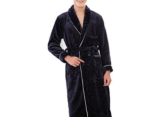 Startseite Mens Freizeit Baumwolle Toweling Erwachsene Schal Kragen Bademantel Bademantel Bademantel Pyjamas Nachthemd A