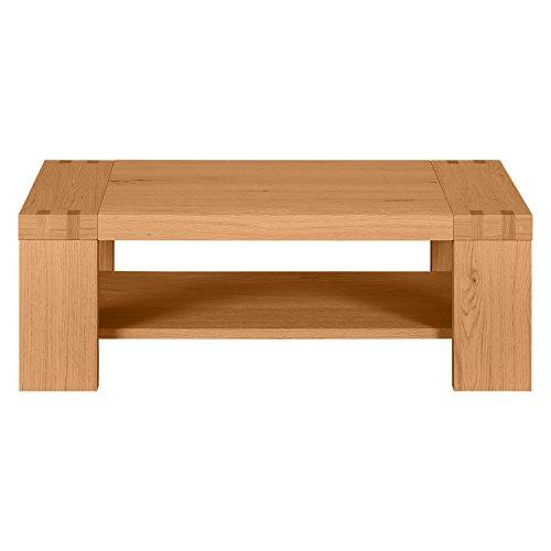 Keo Elina Table Basse Double Plateau, Chêne, 110 x 38 x 70 cm