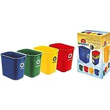 Acrimet Cubo de basura para reciclaje 13QT (4 Unidades)