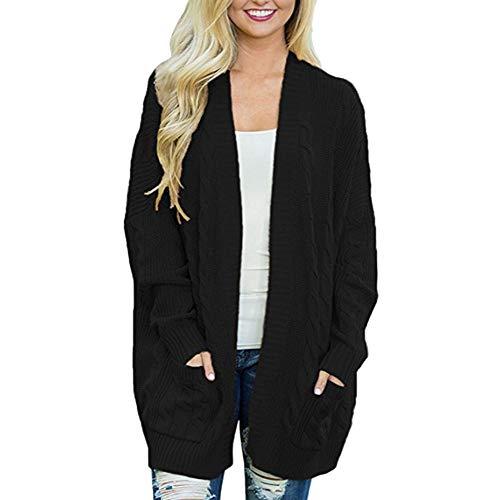 Innerternet Mode Frauen Strickmaterial Sweater Coat Freizeit Einfarbig Tasche Cardigan Mäntel Slim Im Langen Abschnitt Lange Ärmel Kimono Pullover Zieher