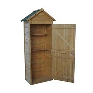 Abri de jardin cabane outils en bois rangement ext rieur for Cabane de rangement pour jardin