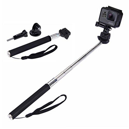 Galleria fotografica Puluz, asta monopiede allungabile, portatile, ideale per selfie, per GoPro Hero 5, Hero 4, Session, 5, 4, 3+, 3,2,1,SJCAM SJ4000