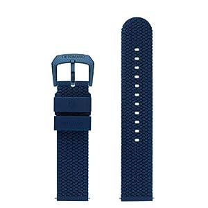 DETOMASO Uhrenarmband Silikon-Armband 20mm 22mm 24mm mit Schnellwechsel Federsteg und Dornschließe