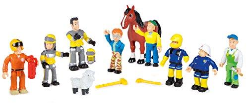 feuerwehrmann sam figuren set Smoby 109251023002–Feuerwehrmann Sam Box 10Figuren