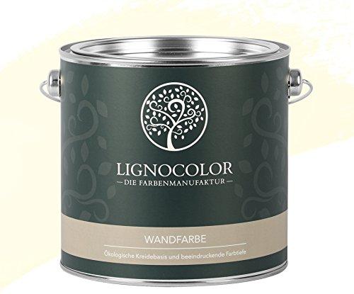 Lignocolor Wandfarbe Innenfarbe Deckenfarbe edelmatt 2,5 L (Ivory)