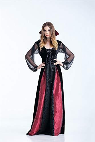 Duuozy Frauen Geist Festival Kostüme Weibliche Vampir Zombie Kostüm Halloween Geist Braut Maskerade Party Königin S, M, L, XL,M