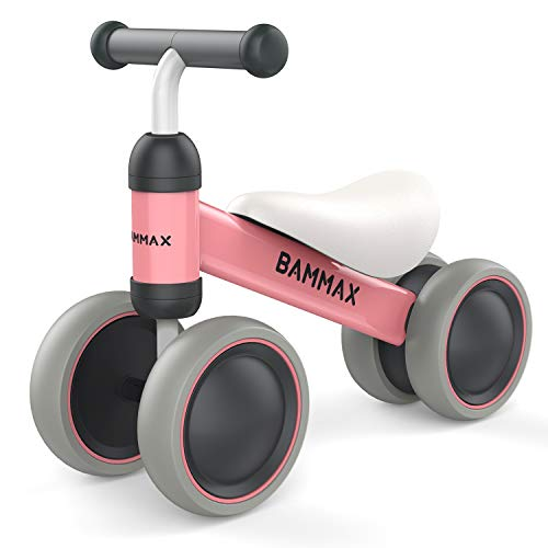 Bammax Bicicleta sin Pedales para Niños 1-2 Años 10-24 Meses Bicicleta Equilibrio Bebé Juguete Bebe Regalo de Cumpleaños Primera Bici sin Pedales Triciclos Bebes, Rosa