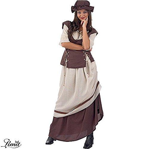 Marktfrau Gewand, Rock mit Schürze, Bluse mit Weste, Mittelalter Kostüm, inkl. Kopfschmuck - (Kostüm Larp Empire)