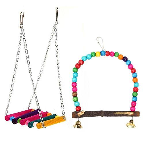Everpert - Perlas de madera coloridas para colgar, diseño de pájaros