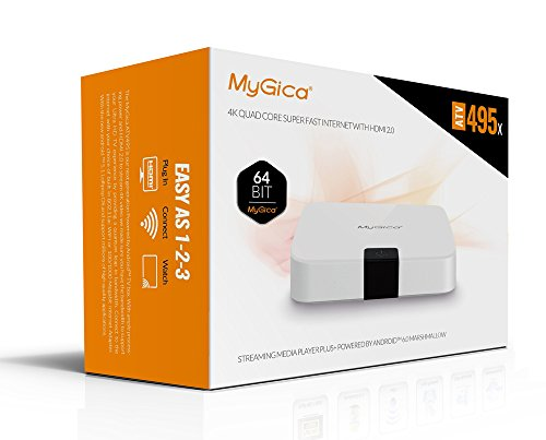 MyGica ATV495X Android 6 0 TV Box with Kodi Supporting 4K (60Hz) Full HD  /H 265 /WiFi/BT 4 0