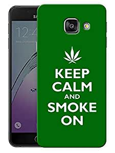 """Ulta Anda Keep Calm And Smoke On Printed Designer Mobile Back Cover For """"Samsung Galaxy A3 2017"""" (3D, Matte Finish, Premium Quality, Protective Snap On Slim Hard Phone Case, Multi Color)"""