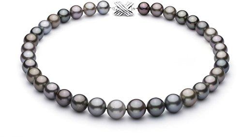 (PearlsOnly Halskette mit mehrfarbigen, 11-14.6mm großen Tihitianischen Perlen in AAA-Qualität -18 cm)