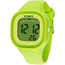 Malloom®2015 moda natación reloj deportivo silicona digital LED impermeable unisexo reloj Verde