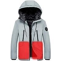 Escudo calienta \ chaquetas para hombre, tops de invierno - USB eléctrica rápida Calefacción Ropa para deportes al aire libre Esquí Montar la pesca que acampa, cálido cuerpo y el corazón,Gris,XXXXL