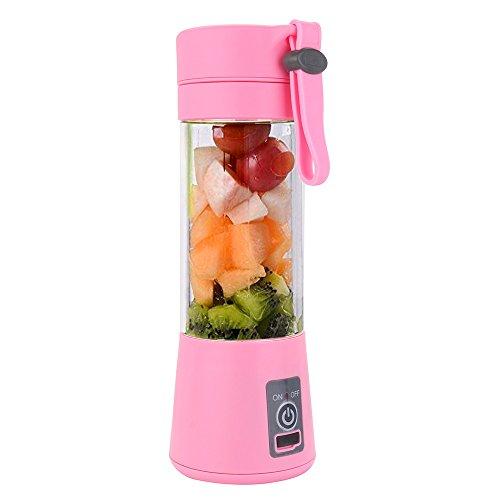 TAOtTAO USB-Entsafter 380ml USB-elektrischer Fruchtentsafter-Handheld Smoothie-Hersteller Juice Cup (C) - Oster-glas-mixer-glas