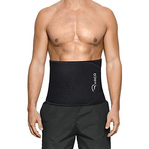 RYACO Fitnessgürtel, Fitness Gürtel, Schwitzgürtel zur Fettverbrennung, Verstellbarer Neopren Sauna Bauchweggürtel, Gewichthebergürtel Schweiß Ab Gürtel Taillen (L)