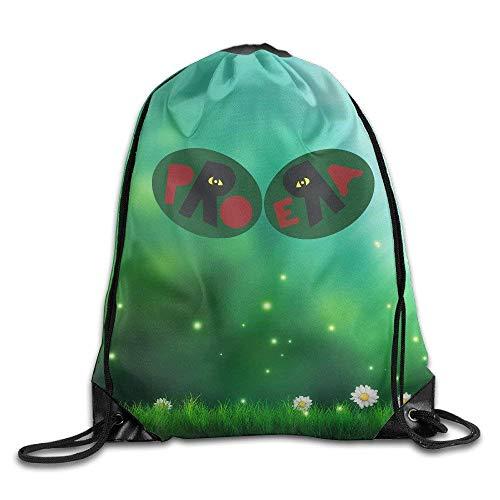 Etryrt Turnbeutel/Bedruckte Sportbeutel, Premium Drawstring Gym Bag Rucksack, Capital Steez Pro Era Training Gym Drawstring Backpack Sack Bag for Gym Sport or Travel Storage -