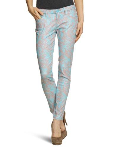 Cross Jeans Damen Jeans Normaler Bund P 461-510 / Adriana, Gr. 32/32, Türkis (Bird Vamou Turquoise) (Cross Design-leder)
