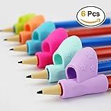 Bicolor - Lot de 6 guide-doigts au design ergonomique - aide à l'écriture