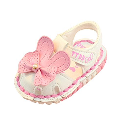 Baby Shoes Zhhlaixing Kids Soled Girls Hollow White Flowers Soft Toddler Sandals Princess adfTdqxwv