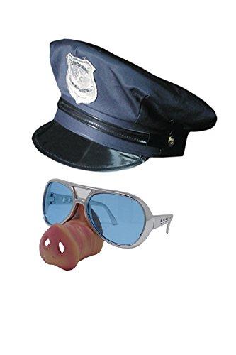 Junggesellenabschied Zubehör Kostüm - Marco Porta Saugeiles Polizei Set Schwein Polizist Kostüm Zubehör Junggesellenabschied JGA Party Outfit