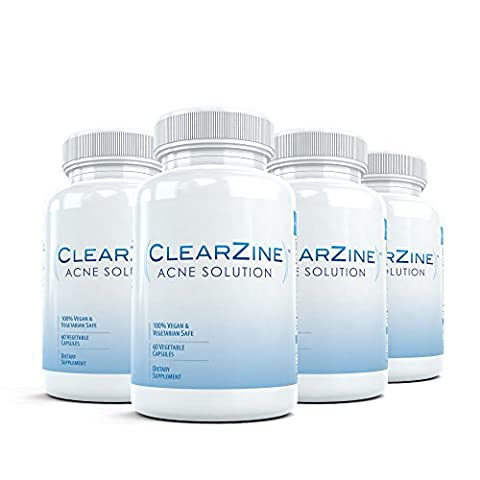 Clearzine (4 Bottles) - The Top Rated Acne Treatment Pill.