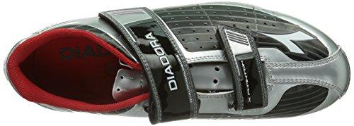 Diadora X PHANTOM Unisex-Erwachsene Radsportschuhe - Mountainbike Silber (schwarz/silber DD/weiß 7720)