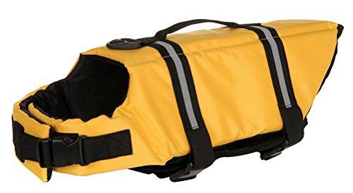 Longwu Hunde Warnweste Schwimmweste Schwimmhilfe für Hunde-Schwimmweste Rettungsweste Float Coat pet dog life Preserver jacket Reflektoren Gelb-M