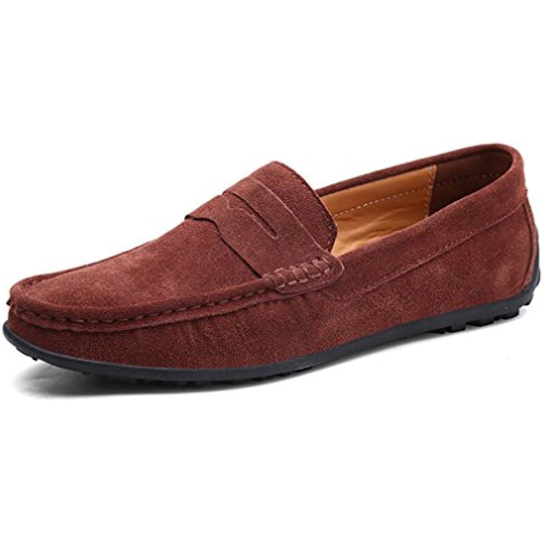 Daim Daim Daim Cuir Hommes Casual Chaussures Mocassins V eacute;ritable Cuir Conduite Mocassins Gommino Slip Sur Les - B07DPQY4Q9 - b76017