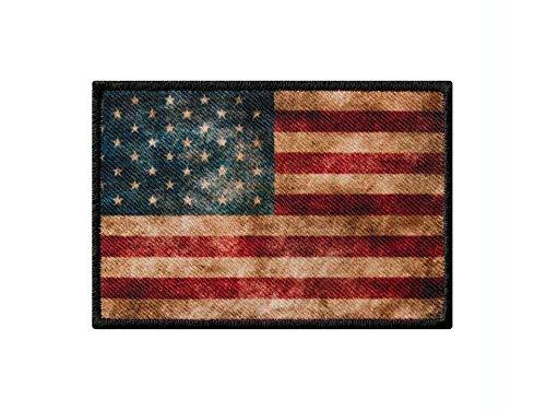 Monoquick Bügelbild Applikation Aufnäher Patch Flagge Fahne USA Vintage 8,0 cm x 5,5 cm -