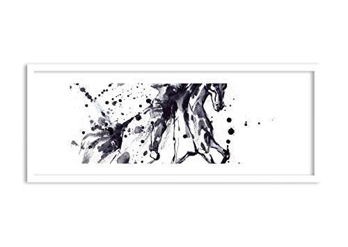 Bild im weißen Holzrahmen - Bild im Rahmen - Bild auf Leinwand - Leinwandbilder - Breite: 100cm,...