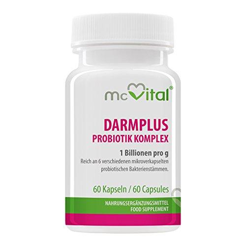 Komplex 60 Kapseln (DarmPlus Probiotik Komplex - Gesunde Darmflora - 1 Billion pro g - 60 Kapseln)