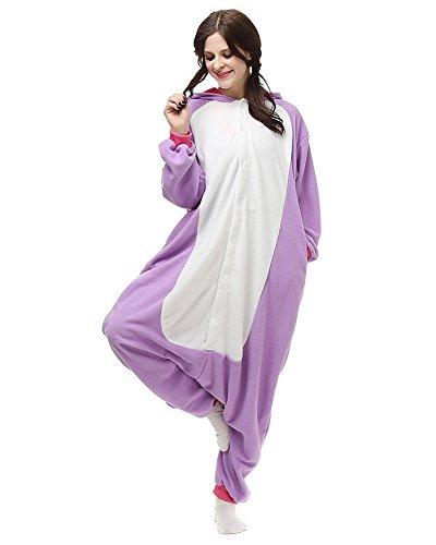 SAMGU Animale Pigiama Onesie Adulto Kigurumi Cosplay Animali unicorn Costume Viola