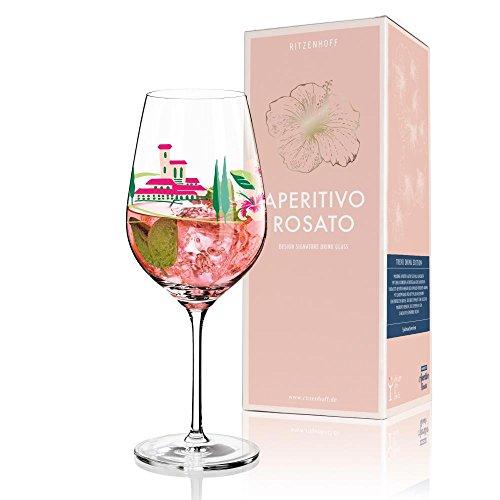 RITZENHOFF APERITIVO ROSATO Aperitifglas Weinglas Blume by Dominique Tage 2014