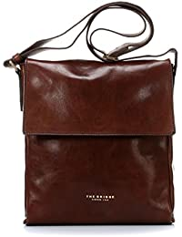 5d91143368b8 The BRIDGE Leather Bag genuine Italian Messenger bag brown SFODERATA LUXE  UOMO 05402101 14