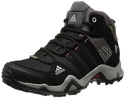 adidas Damen AX 2.0 Mid GTX Trekking- & Wanderstiefel, Schwarz (Carbon S14/Black 1/Sharp Grey F11), 39 1/3 EU