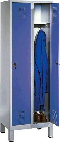 EVOLO Garderobenschrank48010-20-7035 H185xB61xT50 cm lichtgraublau