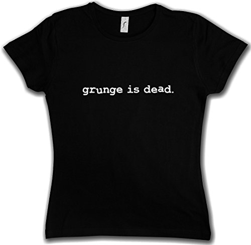 GRUNGE IS DEAD T-SHIRT WOMAN GIRLIE DONNA SHIRT - Kurt Black Nevermind Cobain Rock RIP Nirvana T-SHIRT WOMAN GIRLIE DONNA SHIRT Taglie S - 5XL