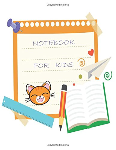 Notebook: Drawing Notebook for Kids. Unlined Journal:  Size - 8.5 x 11 inches (101 pages). Cat - Cover.  Unruled Notebook:  Notes, Sketching Pad, Creative Diary and Journal ( Notebooks and Journals) por Calligraphy School
