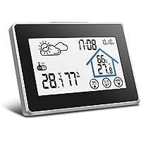 Estación meteorológica con sensor inalámbrico al aire libre, DIGOO DG-TH8380 higrómetro digital con