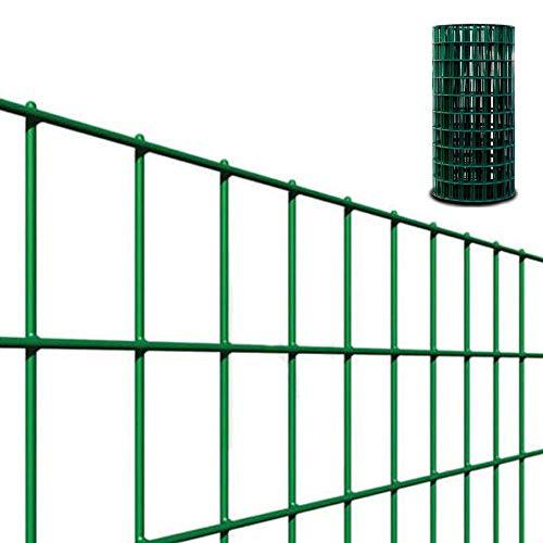 Rete metallica elettrosaldata recinzione h.180-25 mt 50x100 plastificata verde