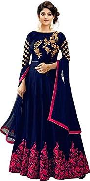 Varudi Fashion Women's Anarkali Gown Knee Length D