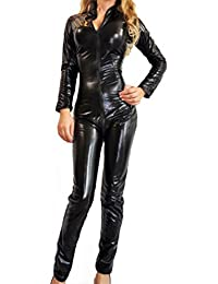 Forever Young Ladies Lycra Spandex Bodysuit Catsuit Catwoman Costume Small UK Size 8